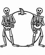Coloring Pages Skeleton Skeletons Printable Halloween Sheets sketch template