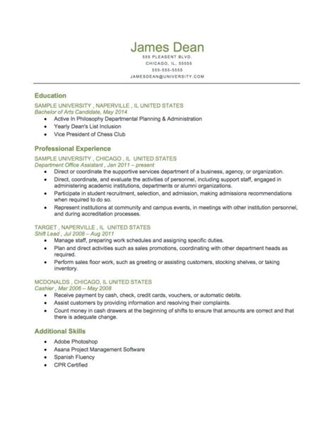 Chronological Resume Exle For Students by Pin By Resume Genius On Resume Sles
