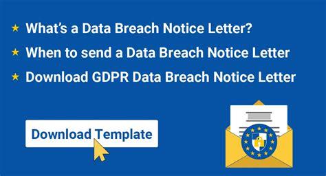 gdpr data breach notice letter termsfeed