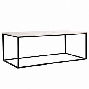 Table Basse Blanche Rectangulaire : table basse rectangulaire lennart marbre blanche koya design ~ Melissatoandfro.com Idées de Décoration