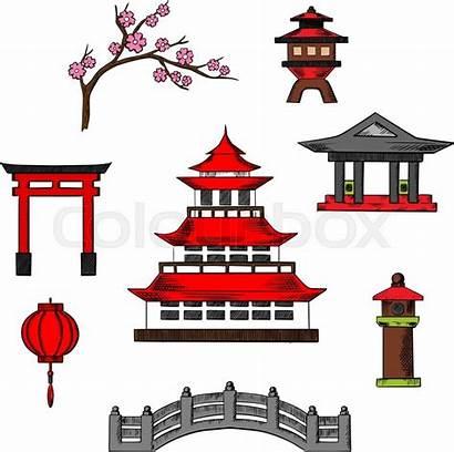 Pagoda Japanese Temple Japan Clipart Vector Culture