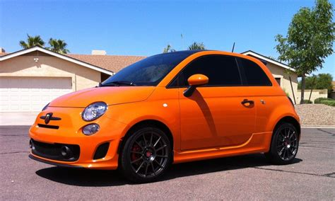 Fiat 500 Orange by Fiat 500 Abarth In Orange Great Colour New Fiat 500