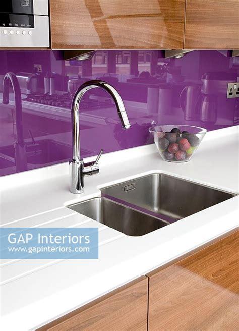 Gap Interiors  Modern Kitchen Sink With Purple Splash