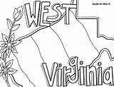 Coloring Pages Virginia West States United Iowa State Doodle Mountaineer Alley Printable Template Flag Neat Flower Usa Print Sketch Minnesota sketch template