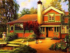 Beautiful, Country, Cottage, Widescreen, High, Resolution ...