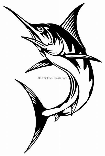 Marlin Sticker Stickers Fishing Decals Graphics