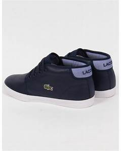 Lacoste Ampthill Leather Trainers Navy Blue,boots,shoes ...