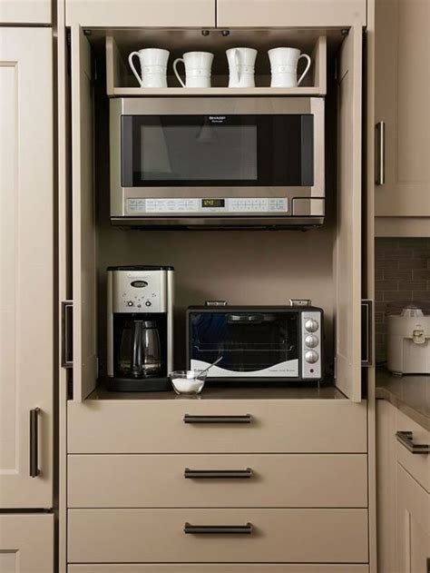 Kitchen Living Toaster Oven by Disappearing Microwaves Tiny Living Kitchen Remodel