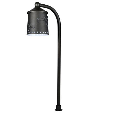 hton bay low voltage black outdoor integrated led path