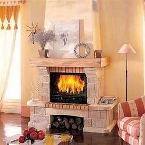 Cheminée En Brique : chemin e traditionnelle en briques canelle 503 chemin e traditionnelle brisach ~ Farleysfitness.com Idées de Décoration