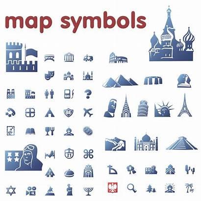 Symbols Map Legend Clipart Clip Icons Vector