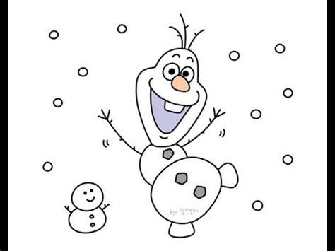 draw frozen olaf  youtube