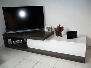 Meuble Tv En Coin : biblioth que en mdf 38 avec longue port e 176cm entre 2 ~ Teatrodelosmanantiales.com Idées de Décoration