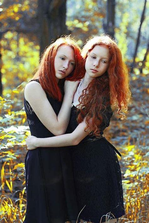 Redhead Lesbian Twins Big Nipples Fucking
