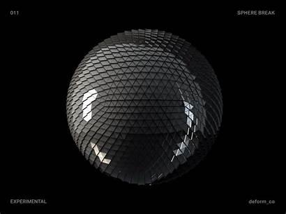 Sphere Dribbble Break 4d Animation 3d Tweet