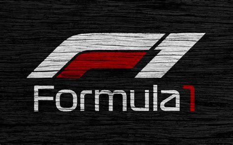 nouveau logo f1 wallpapers 4k formula 1 new logo wooden texture f1 new logo f1 black backgroud
