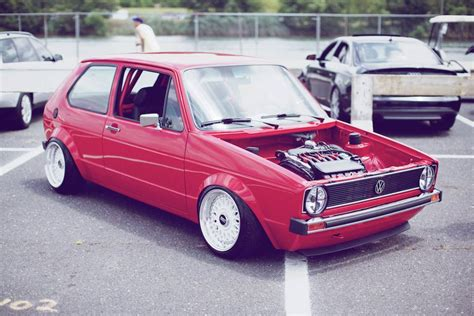 rabbit volkswagen red volkswagen rabbit mk1 on 15 white bbs rm vr6 turbo