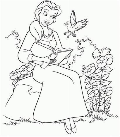 Coloring Belle Princess Disney Pages