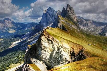 Dolomites Val Mountains Gardena Italy Wallpapers Gg