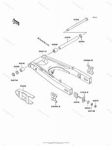 Kawasaki Motorcycle 2006 Oem Parts Diagram For Swingarm