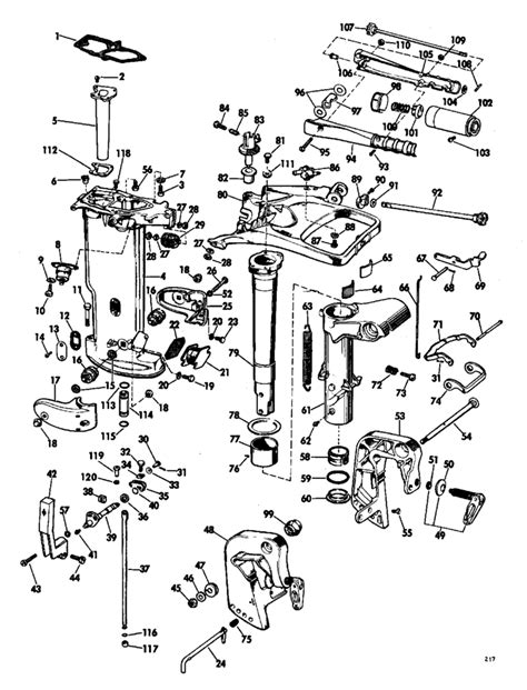 20 Hp Johnson Outboard Diagram by Johnson Lower Unit Parts For 1968 20hp Fd 22a