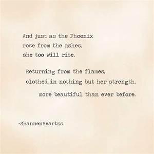 The Phoenix Wil... Phoenix Bird Tattoo Quotes