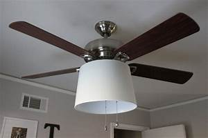Modern classic home lighting design with medium drum shades ceiling fan