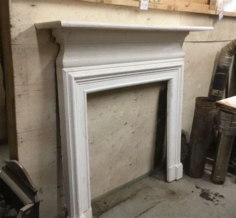painting cast iron fireplace white fireplaces surrounds authentic reclamation