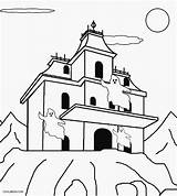 Haunted Coloring Pages Printable Colouring Cool2bkids Sheets Halloween Templates Ghosts Spooky sketch template