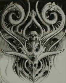 Biomechanical Tattoo Drawings