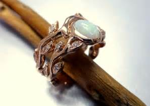 opal engagement ring engagement ring with opal and diamonds opal ring set leaf