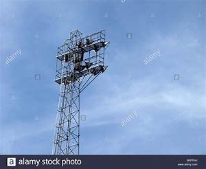 Football floodlights stock photo royalty free image