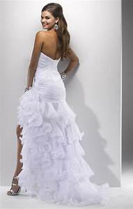 wedding dress short in front long in back With short in the front long in the back wedding dresses
