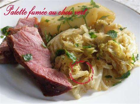 cuisine et gourmandise recettes de palette et pomme de terre
