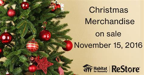 christmas decor sale at the restore habitat for humanity