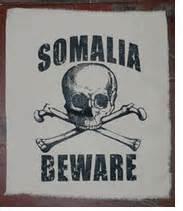 Somali Pirates Jolly Roger Skull Crossbones Black T-shirt