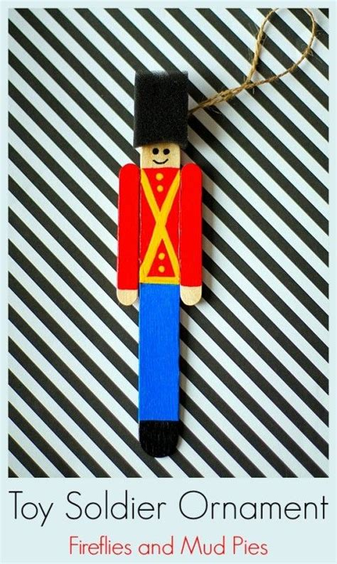 toy soldier craft for kids how to make a popsicle stick soldier ornament