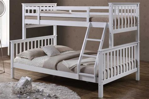 Beds For Beds by Oscar White Solid Wooden Sleeper Bunk Bed