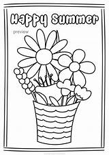 Coloring Summer Pages Happy Teacherspayteachers Themed sketch template