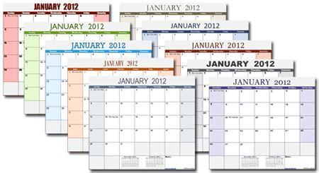 single excel calendar template xlsx version change