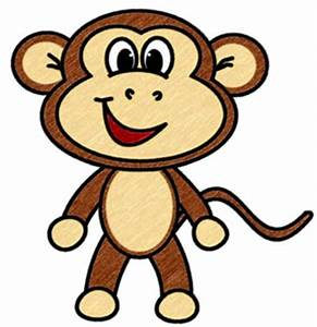 Cute Cartoon Baby Monkeys - ClipArt Best