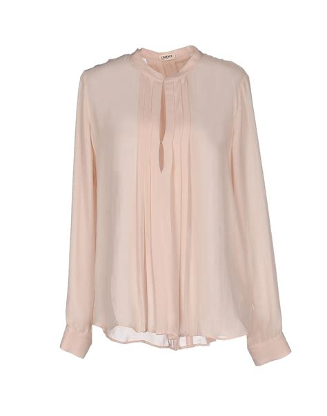 pink blouses l 39 agence blouse in pink light pink lyst