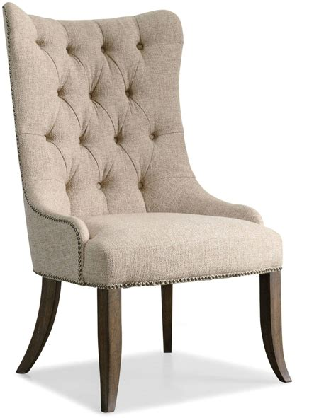 rhapsody beige tufted dining chair set    hooker