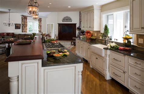 open floor plan transforms colonial traditional kitchen boston  tibma design build