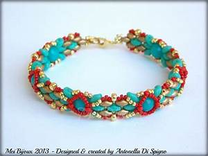 Diy Beading Pattern Skinny Bracelet With Superduo Or Twin