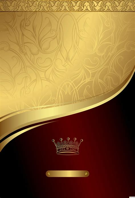 stock gold  red floral royal background vektornye