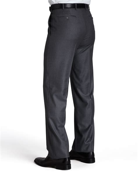 lyst zanella platinum dress pants  gray  men