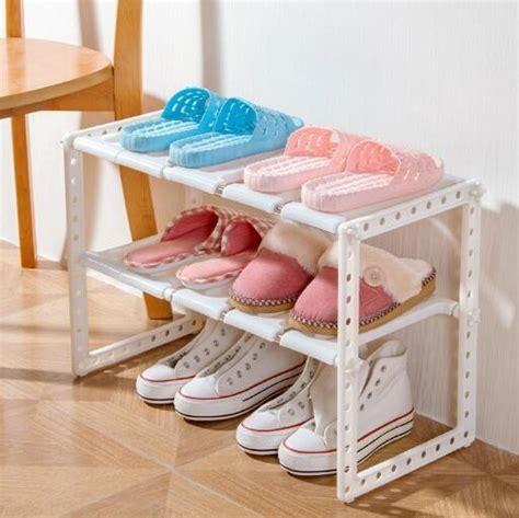 Harga Rak Sepatu Plastik Susun 2 rak sepatu dapur buku portable serbaguna 2 susun grosir
