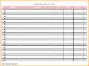 wedding guest list 5 wedding guest list template wedding spreadsheet
