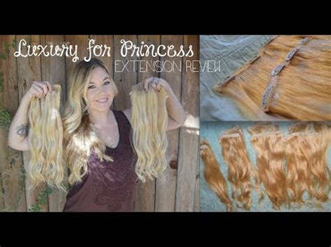 hair extensions luxury  princess review youtube